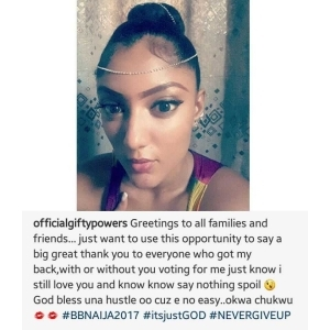 """"""" Nothing Spoil """": Gifty Shares New Photo As She Appreciates Her Fans After Eviction From BBNaija"""